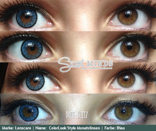 review lenscare colorlook style monatslinsen blau sweet. Black Bedroom Furniture Sets. Home Design Ideas