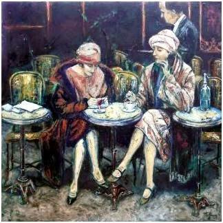 Echos De Mon Grenier Mysterieux Cafe Parisien Des Annees Folles