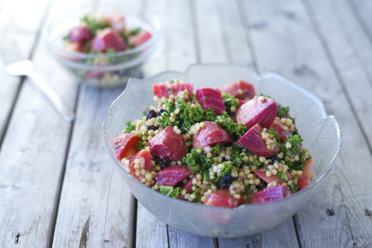 Roasted Beet & Sorghum Salad with Ginger-Lime Vinaigrette