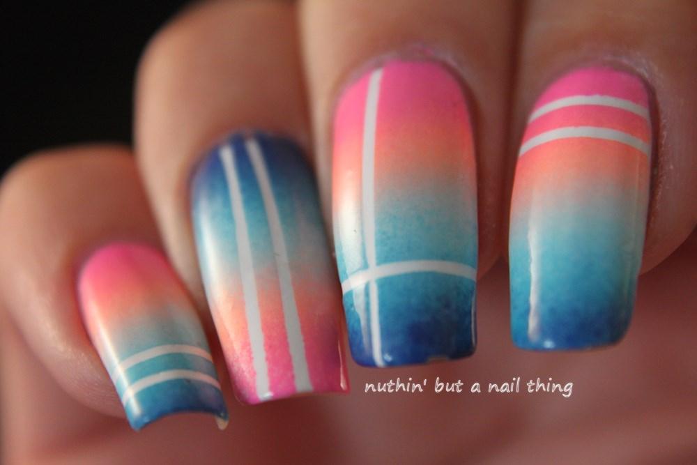 Striping tape gradient