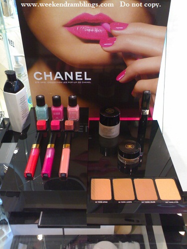 chanel makeup summer 2010 pop up de chanel swatches