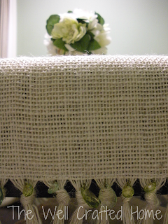 The Well Crafted Home: Made by Me Monday #7! Burlap Table Runner