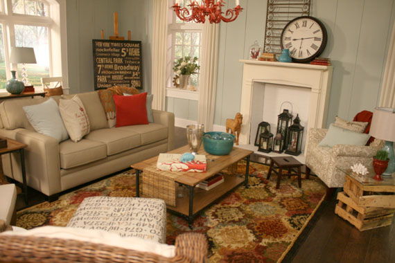 The simple life living room inspiration for Beach themed living room ideas