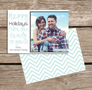 Chevron Christmas Greeting Card