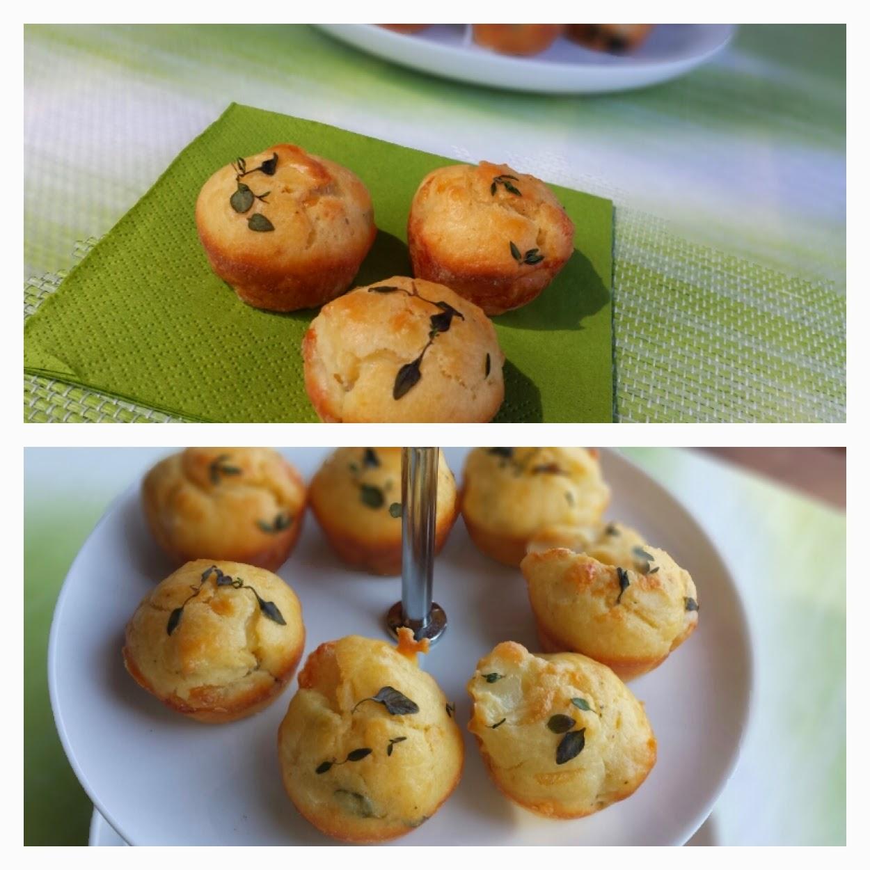 Ziegenkäse-Thymian-Muffins
