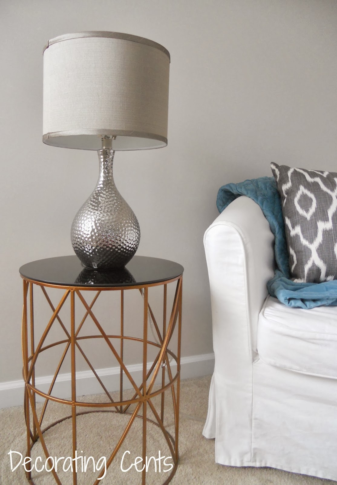 Decorating cents bedroom side table lamp for Side table decor bedroom