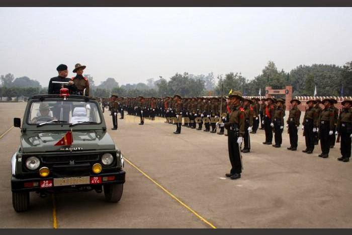 Varanasi: Army recruits during their passing out parade at the 39 Gorkha Training Centre in Varanasi on Dec 14, 2014. (Photo: IANS)