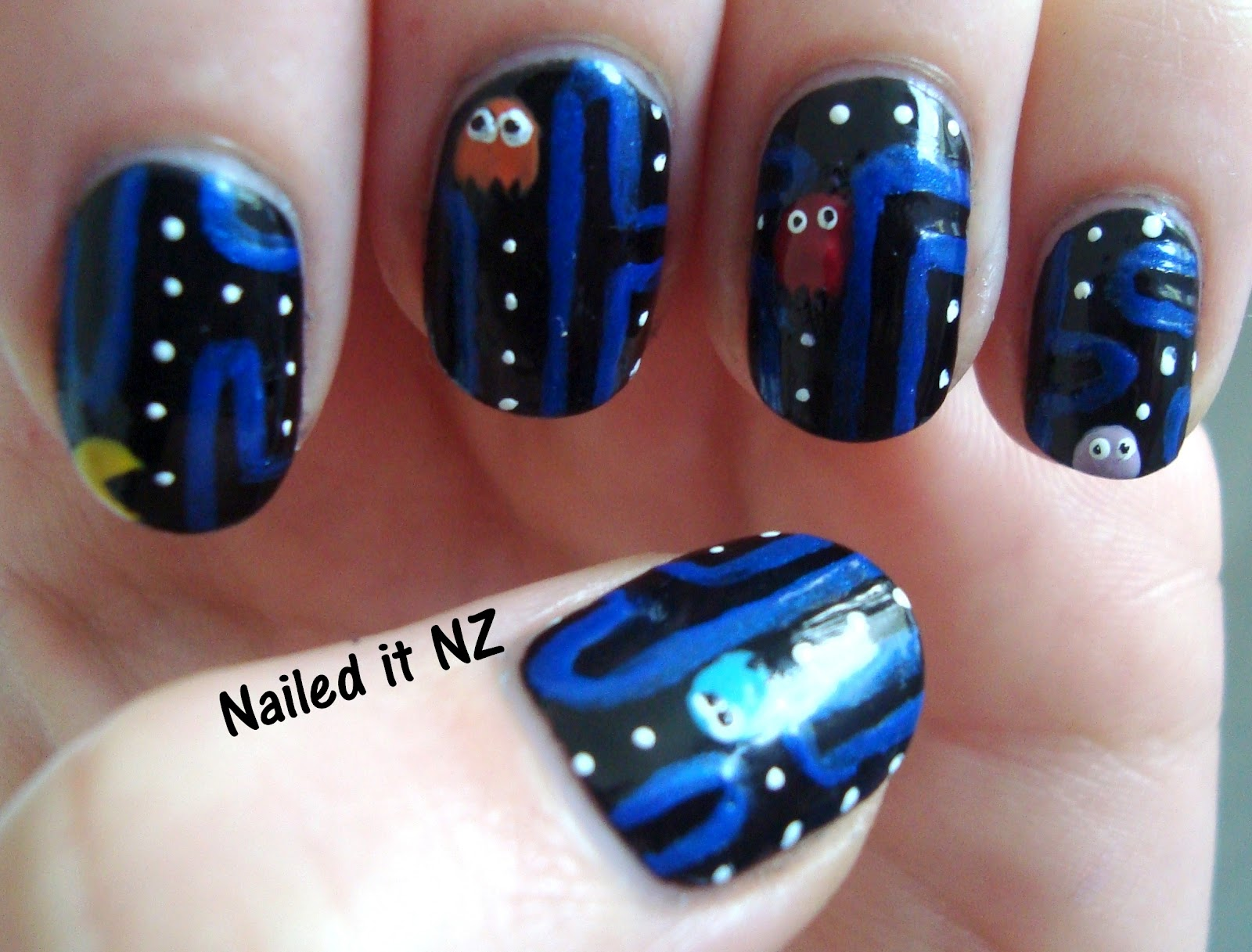 Pacman nails left hand prinsesfo Images