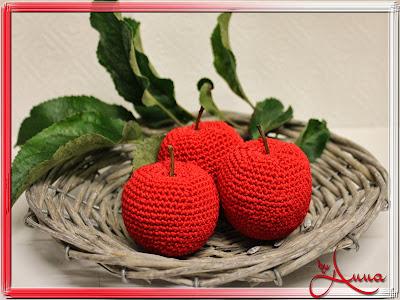 AnnA´s Kreativ Blog: Apfel gehäkelt