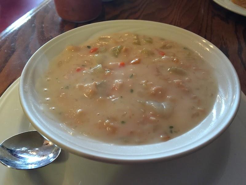 Clam chowder at Duarte's Tavern in Pescadero