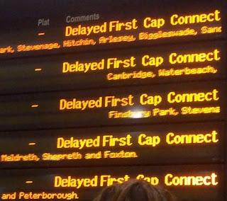 Kings Cross 'departure' board