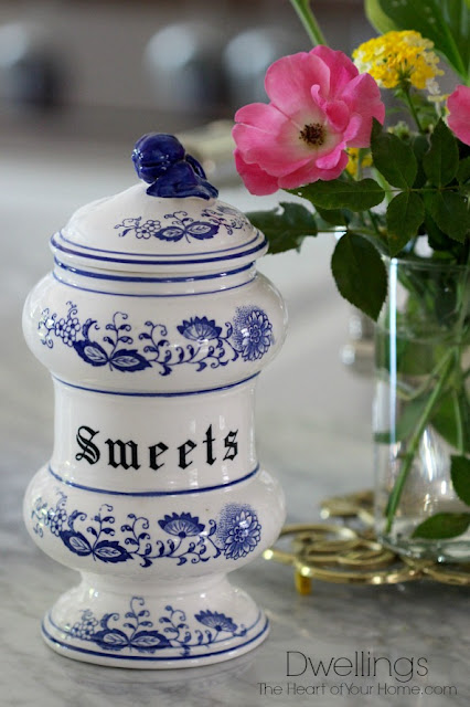 Blue onion Sweets Canister