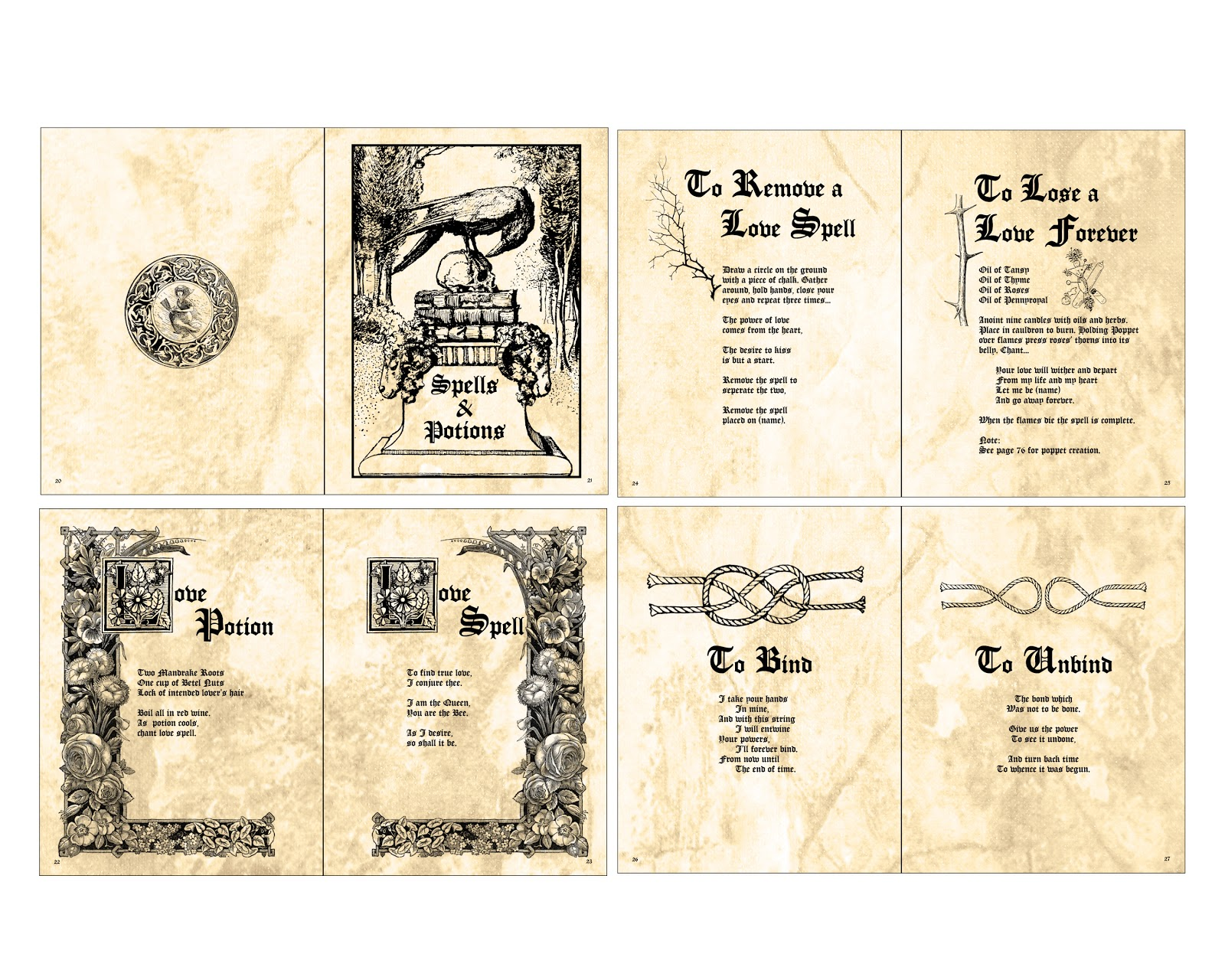 It's just a graphic of Sly Printable Spell Book Pages