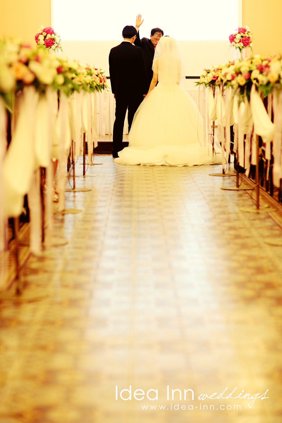 church decoration wedding singapore aisle blessing