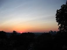 """Sol Sets Over Cin-City Skyline"""