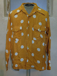40's DOT PATTERN RAYON SHIRTS