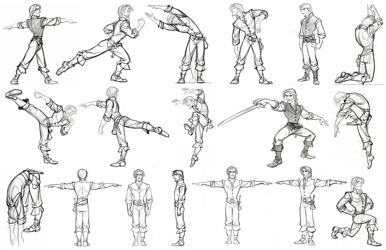 Character Design Artist Resource : Living lines library tangled character flynn ryder