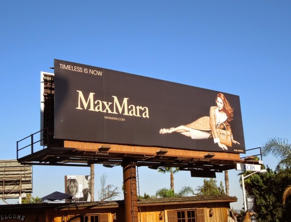 Amy Adams MaxMara FW14 billboard