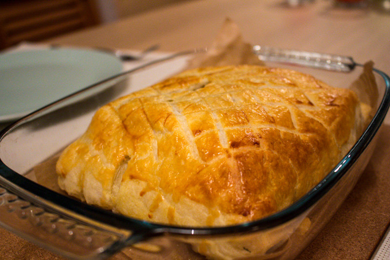 Salmon en croute baked beautifully golden | Svelte Salivations