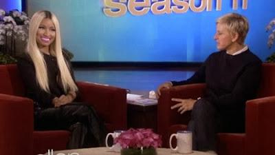 """NOT AGAIN: Watch Nicki Minaj Lets Her Bra loose on Ellen, Says 'I hate bras"""""""