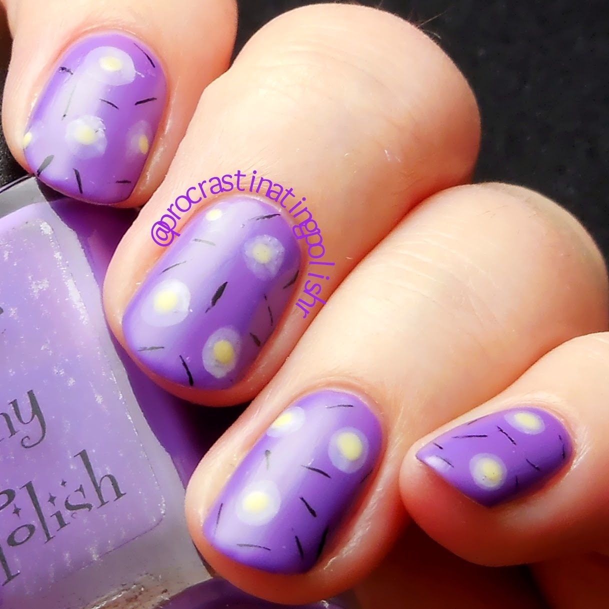 Deconstructed Violets nail art 31DC2014