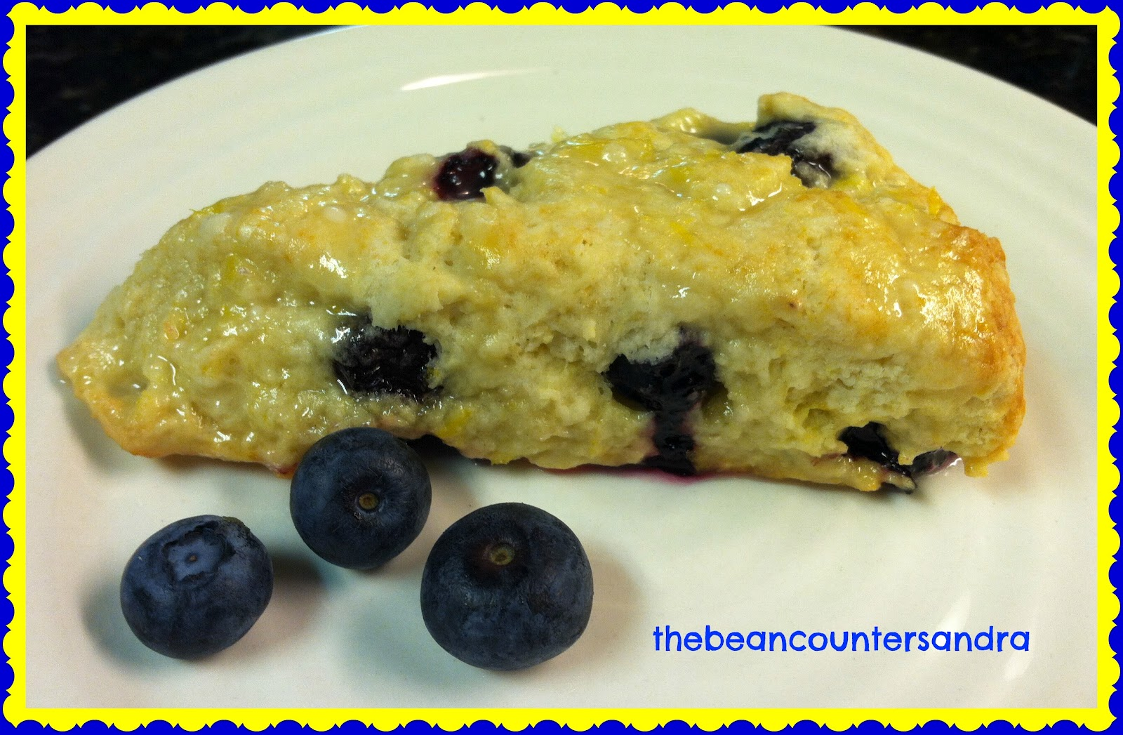 The Bean Counter at the Kitchen Counter: Lemon Blueberry Scones