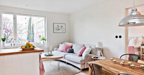 C mo decorar con peque os toques de color un piso de - Piso pequeno estilo nordico ...