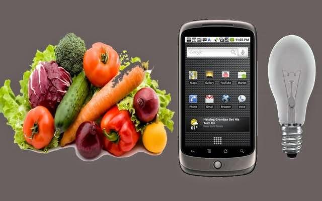 إشحن هاتفك باستعمال الخضر أو الفواكه
