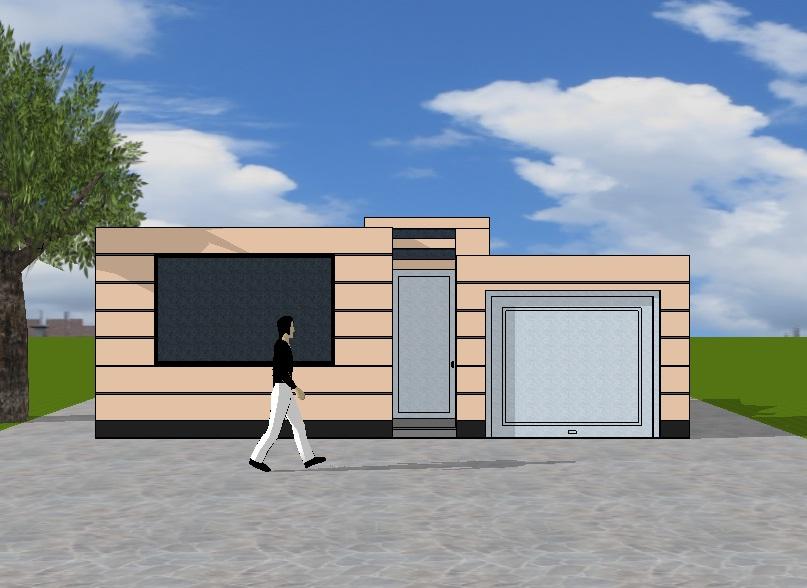 Fachadas y casas fachadas de casas de una planta for Frentes de casas de una planta