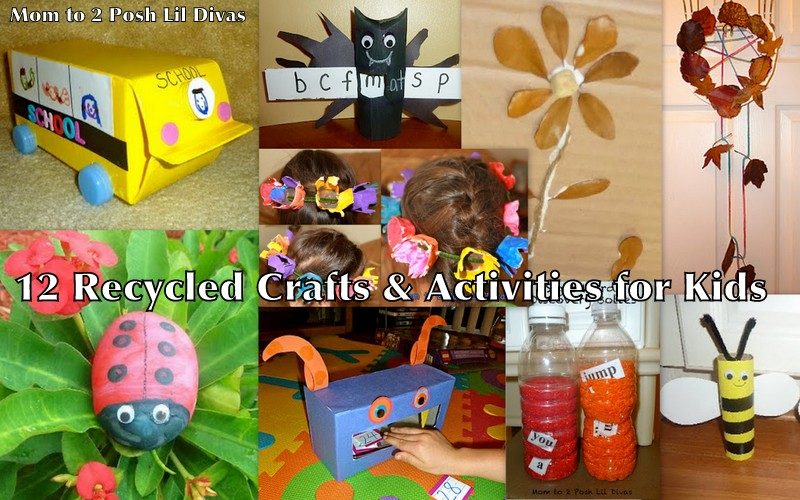 Enjoy for Crafts using recycled materials