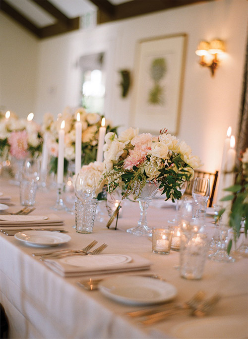 wedding flower table arrangement inspiration