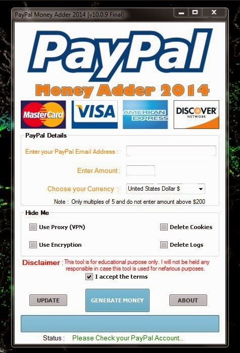 paypal money adder 2013 no survey