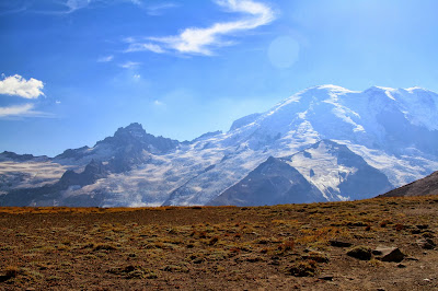 View of Little Tahoma and Mountain Rainier from Burroughs Mountain