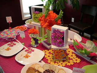 Colorful Wedding Shower Decorations
