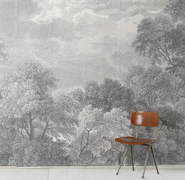 A life 39 s style etched arcadia mural for Anthropologie arcadia mural