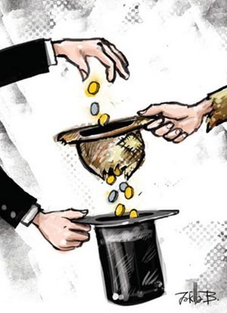Tranh biếm họa giữa Giàu và Nghèo