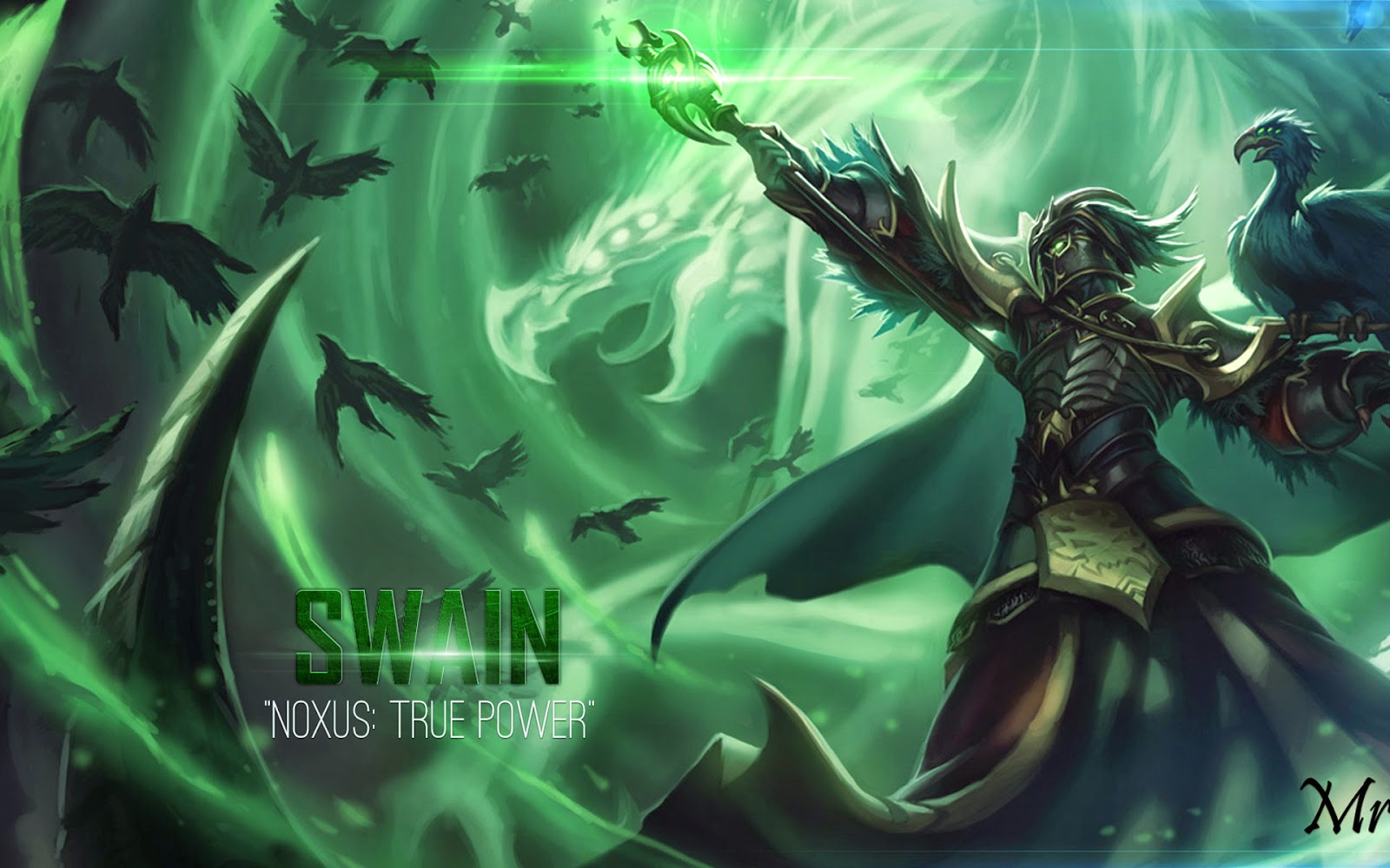 swain league of legends wallpaper  swain desktop wallpaper