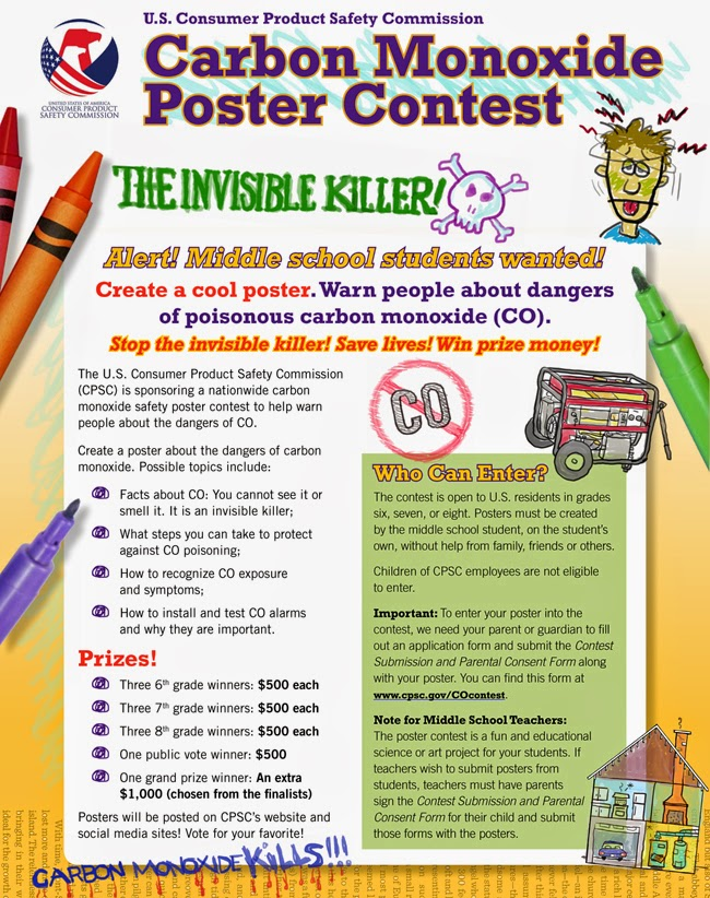 Cpsc Hosts Kids Carbon Monoxide Poster Contest  Ehs Works