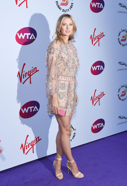 Maria Sharapova stunning leggy poses at WTA party carpet photo 1
