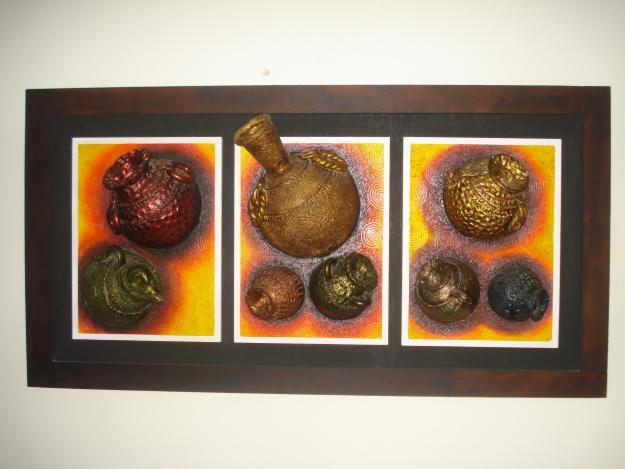 Creaciones yohana cuadros en porcelanicrom 500bsf for Cuadros en relieve abstractos