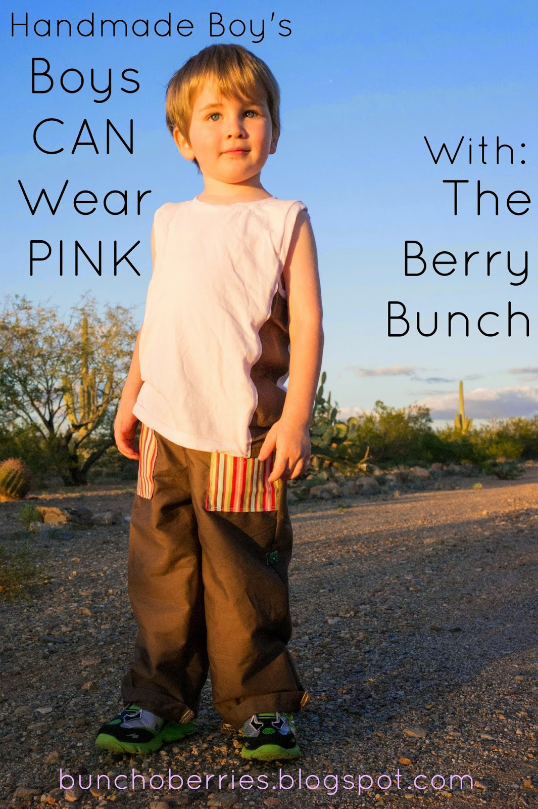 The Berry Bunch: Brown and Pink Jelly Bean Inspiration: Handmade Boys' Boys Can Wear Pink Series