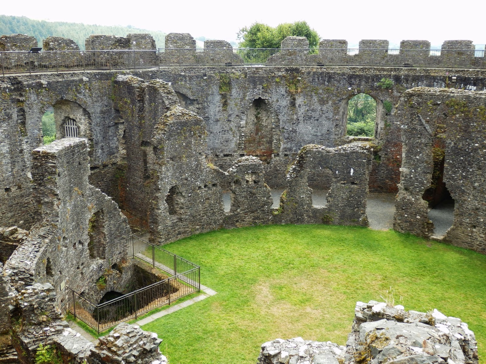 Ruins of Restormel Castle Cornwall