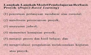 langkah model pembelajaran berbasis proyek