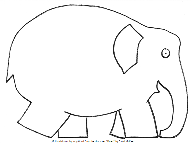 Comprehensive image regarding elmer the elephant printable