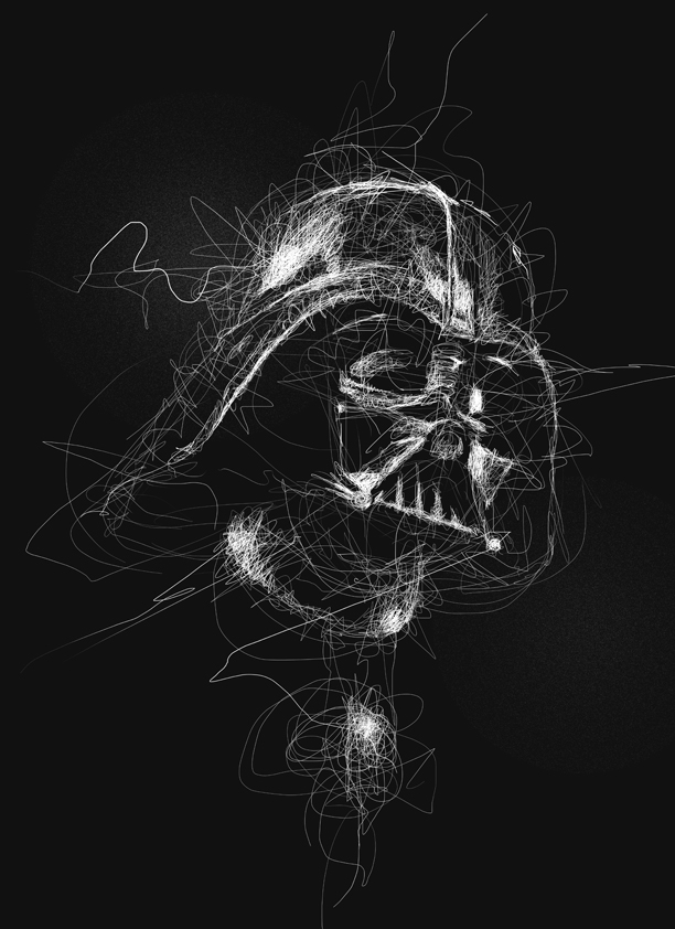 06-Star-Wars-Darth-Vader-Vince-Low-Scribble-Drawing-Portraits-Super-Heroes-and-More-www-designstack-co