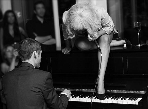 Lady Gaga Performs at SixtyFive Bar in NYC