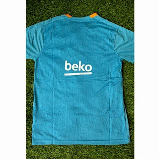 jual jersey bagian belakang jersey training Barcelona warna biru tosca terbaru musim 2015/2016