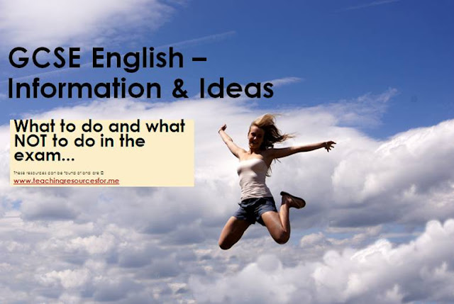 GCSE English OCR Information & And Ideas PowerPoint Revision How to Pass Exam Examination No Revision Aid Aids Help With