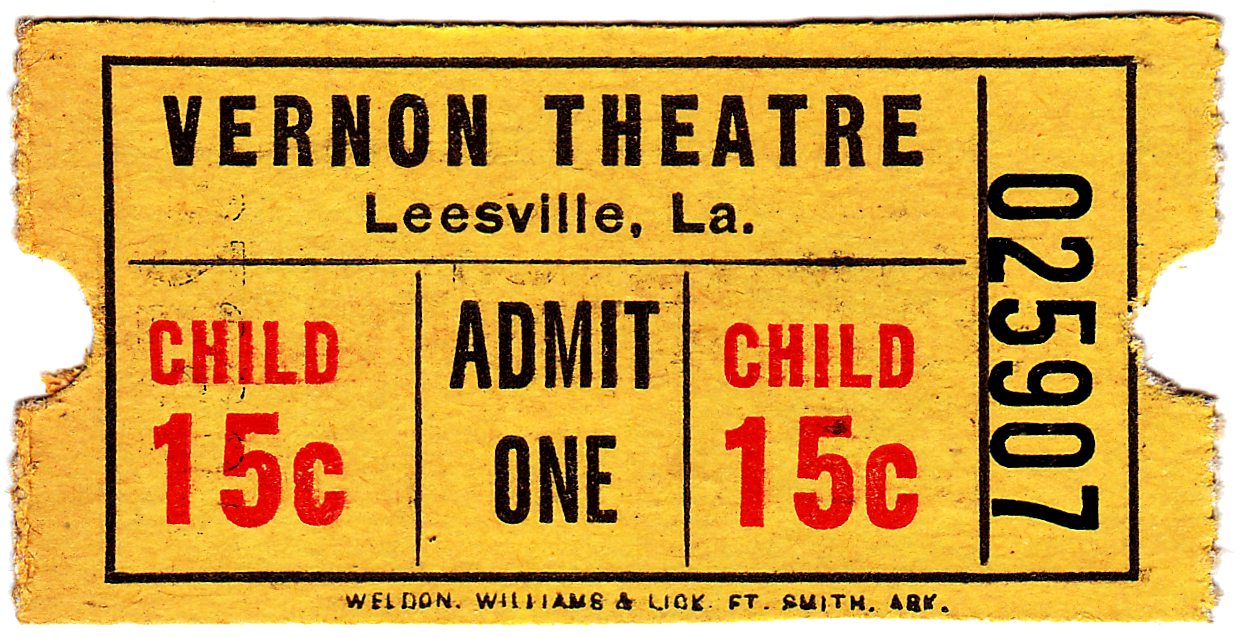 theatre ticket template – Movie Theater Ticket Template