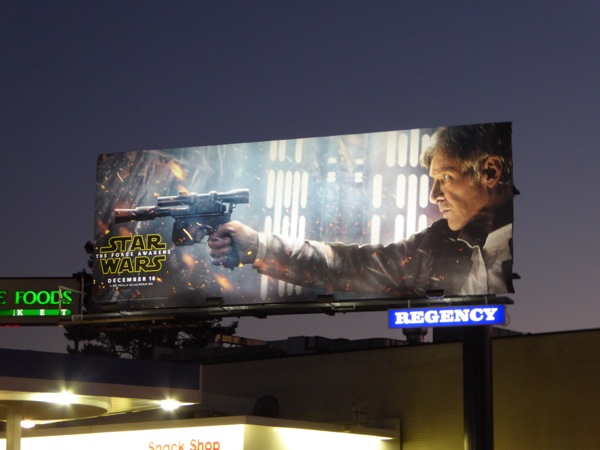 Han Solo Star Wars Force Awakens billboard
